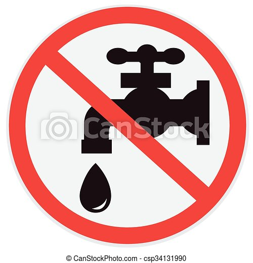 No water tap . No, water, tap, sign eps vectors - Search Clip Art ...