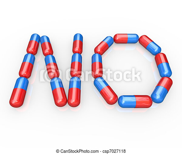 No Word Spelled in Pills - Beat Addiction by Refusing Drugs - csp7027118