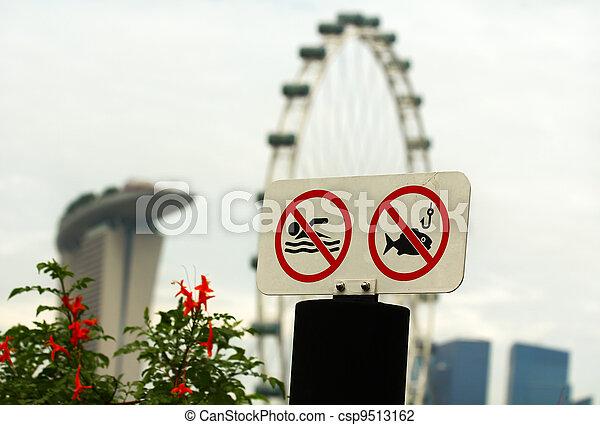 No hay señal de natación y pesca - csp9513162