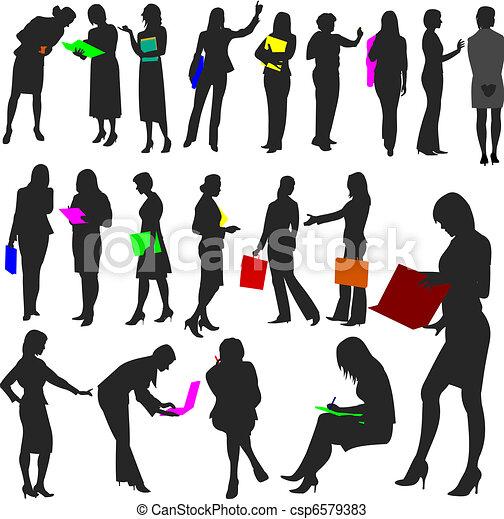 no.2., 婦女, 工作, -, 人們 - csp6579383