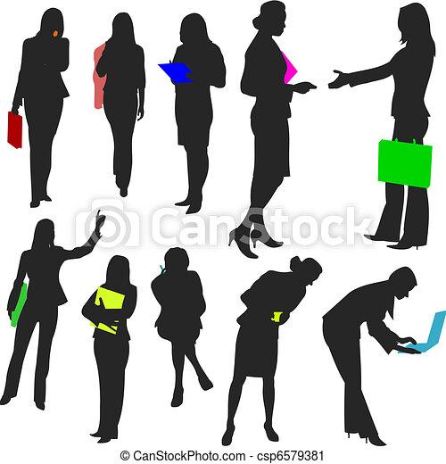 no.2., pessoas, -, mulheres negócio - csp6579381