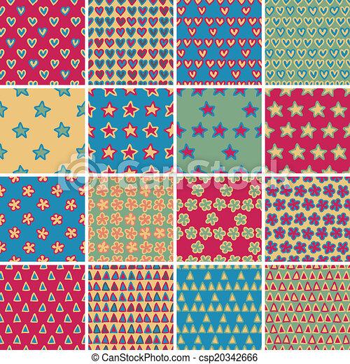 Patrón textil sin costura SET no 4 - csp20342666