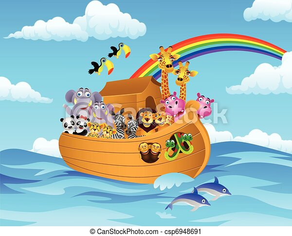 noah ark vector illustration of noah s ark rh canstockphoto com noah's ark clipart noah's ark clip art for children name tags