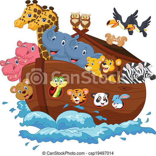 vector illustration of noah s ark cartoon rh canstockphoto com noah ark clipart noah ark clipart