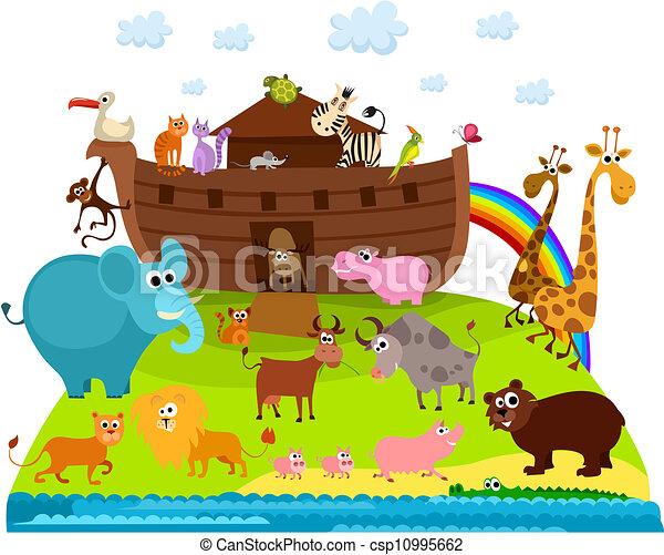 vector illustration of a noah s ark rh canstockphoto com Noah's Ark Real Pictures Noah Ark