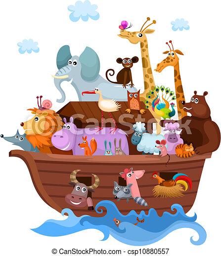 vector illustration of a noah s ark clipart vector search rh canstockphoto com Noah's Ark Cartoon noah's ark baby shower clipart