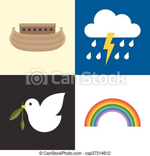Noahs Ark Icons Set