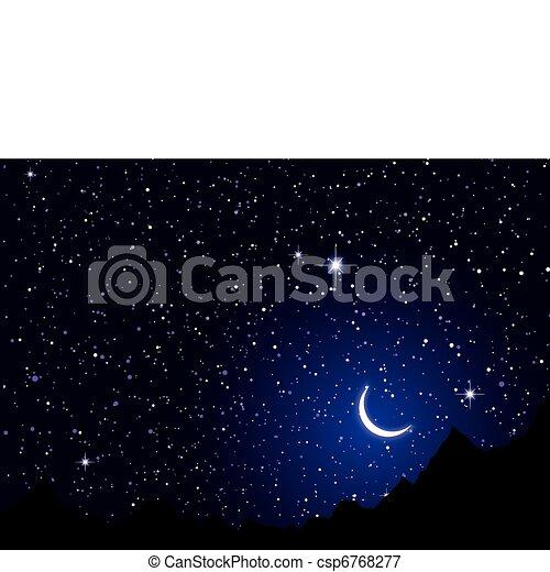 noce, niebo, przestrzeń - csp6768277