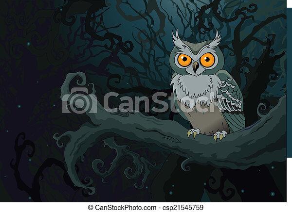 Buho Nocturno - csp21545759