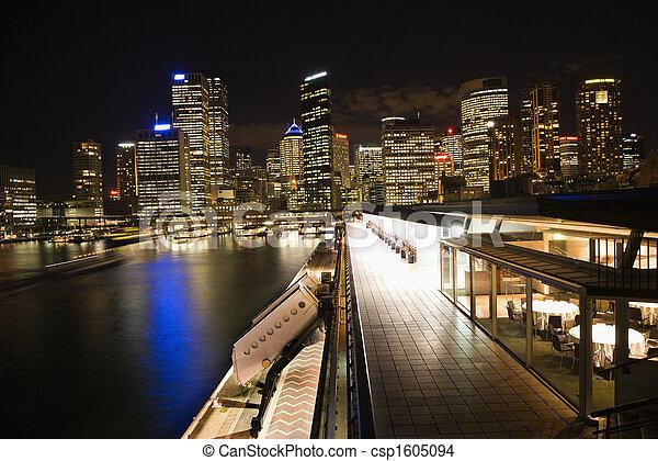 Night Cityscape Sydney, Australia - csp1605094