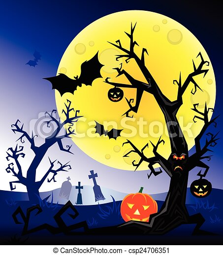 Noche de Brujas - csp24706351