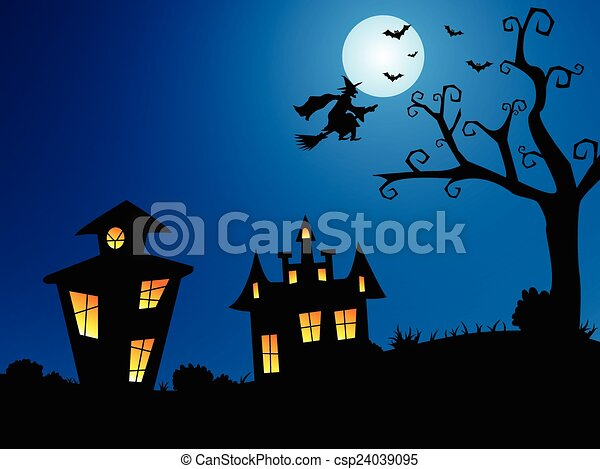 Noche de Brujas - csp24039095