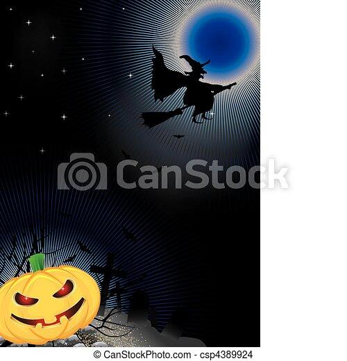 Noche de Halloween - csp4389924
