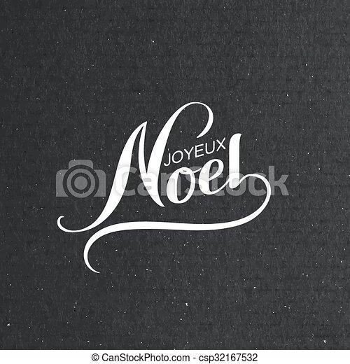Feliz Navidad. Joyeux noel - csp32167532