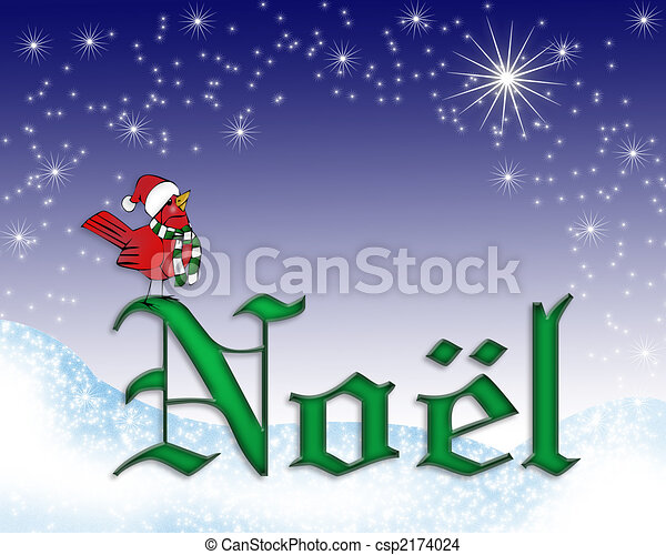 Noel Christmas card background - csp2174024