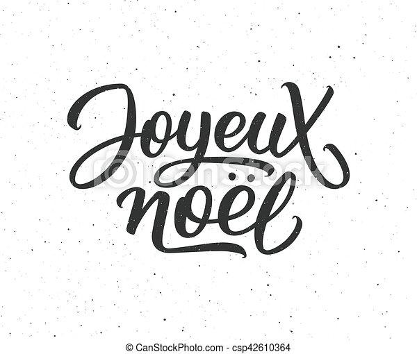 Literatura Joyeux noel. Feliz Navidad en francés - csp42610364