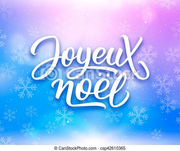 Literatura Joyeux noel. Feliz Navidad en francés - csp42610365