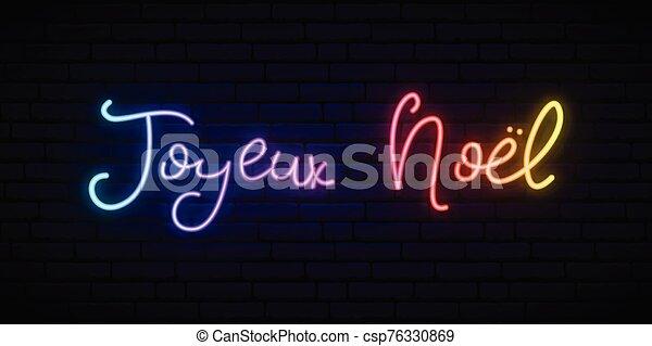 noel, navidad, french., joyeux, -, alegre - csp76330869