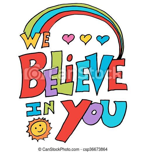 noi, credere, messaggio, lei - csp36673864