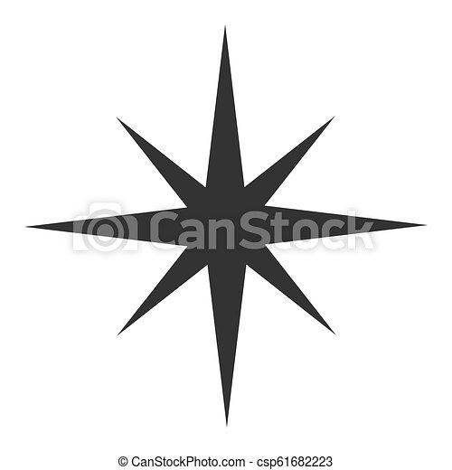 noir, étoile, icône - csp61682223