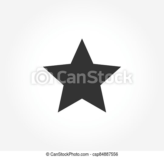 noir, étoile, plat, conception, icon. - csp84887556