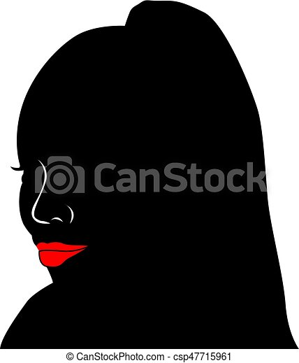 noir, avatar, africain femelle, head., woman. - csp47715961