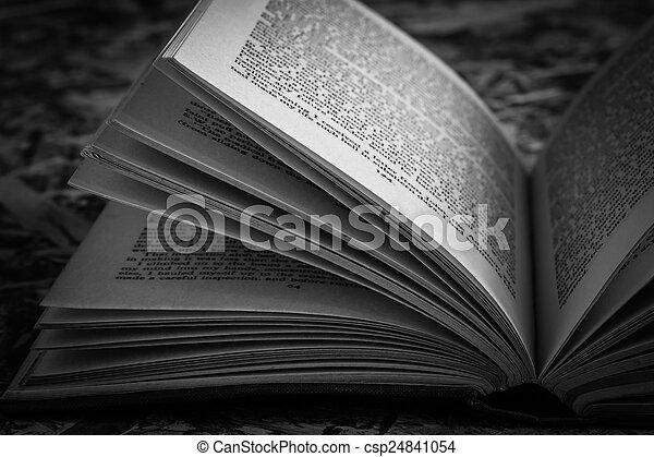 Noir Blanc Livre Vieux