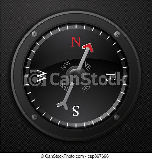 noir, compas - csp8676961