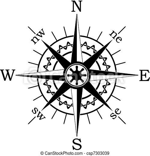 noir, compas - csp7303039