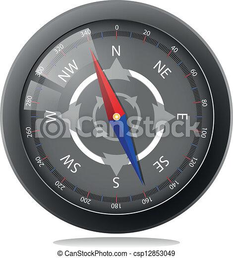 noir, compas - csp12853049