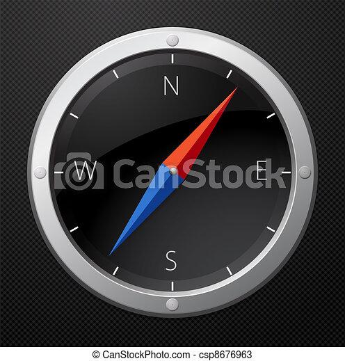 noir, compas - csp8676963