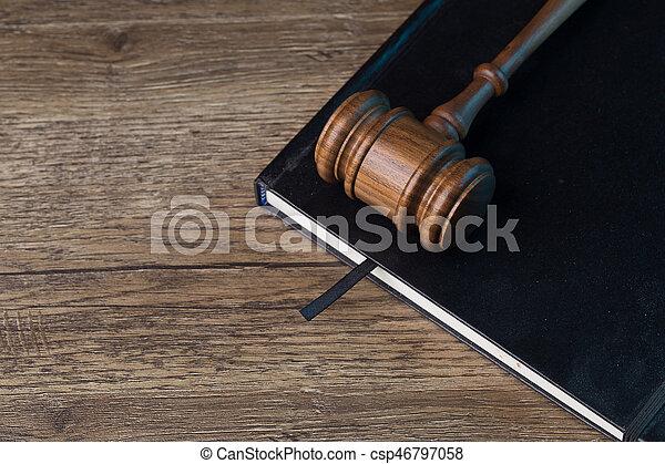 noir, dossier, marteau, juge - csp46797058
