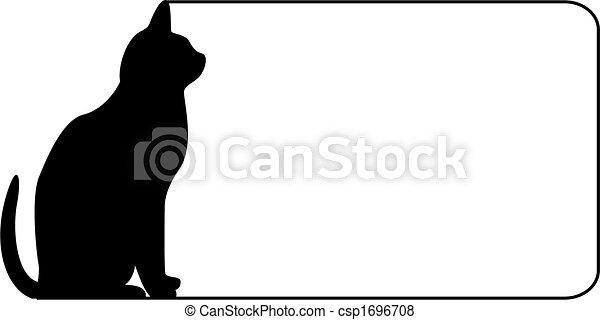noir, frontière, chat - csp1696708
