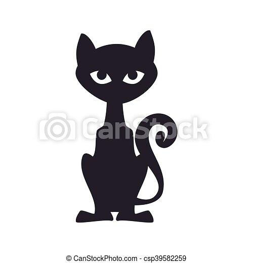 noir halloween chat f lin halloween illustration. Black Bedroom Furniture Sets. Home Design Ideas