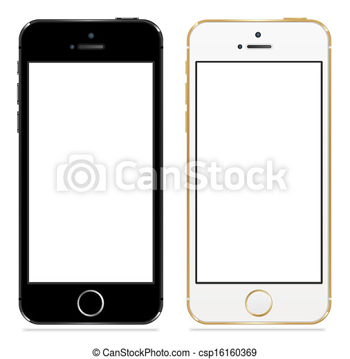 noir, iphone, 5s, pomme, blanc - csp16160369