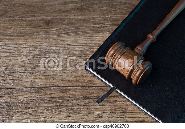 noir, marteau, livre, juge, l - csp46902700