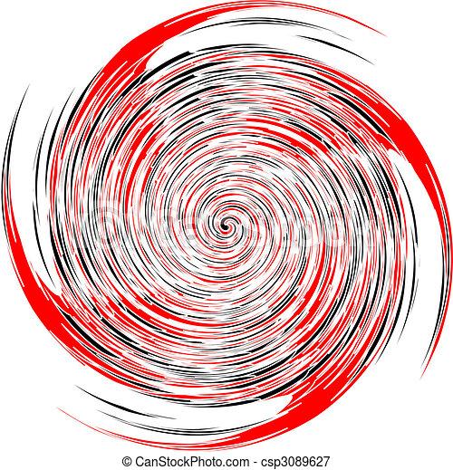 Noir Spirale Vecteur Blanc Rouge