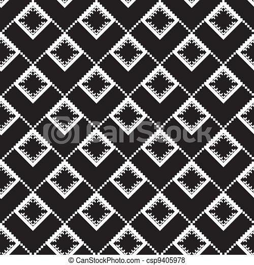 noir, texture, ethnique - csp9405978