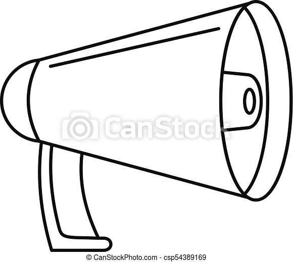 noise of megaphone icon outline style noise of megaphone clip rh canstockphoto com megaphone clipart images megaphone clipart vector