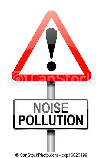 Noise Pollution Concept Illustration Depicting A Sign With A Noise