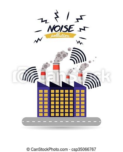 Noise Pollution Design Noise Pollution Design Vector Illustration