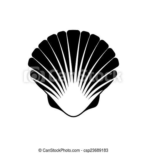 Noix saint jacques seashell ic ne seashell noix saint - Coquille saint jacques dessin ...