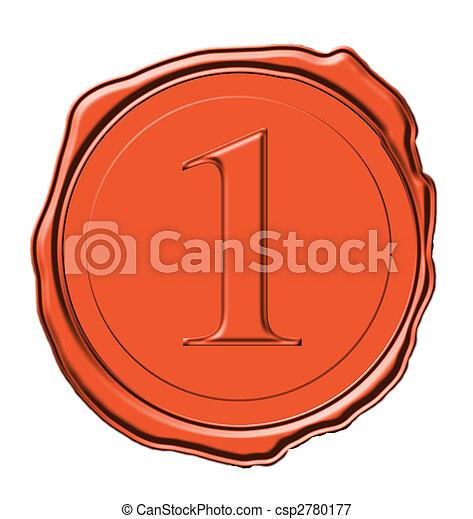 nombre, anneau d'étanchéité en cire, une - csp2780177