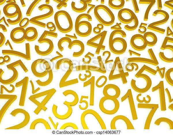 nombres, fond - csp14063677