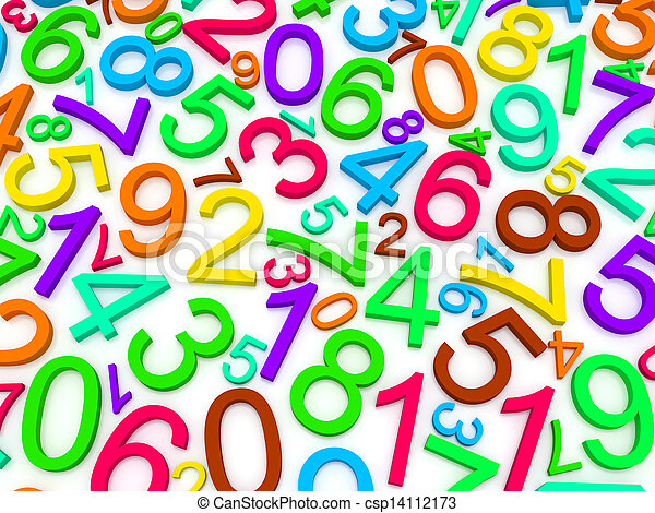 nombres, fond - csp14112173