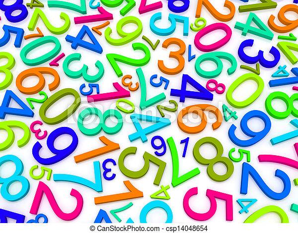 nombres, fond - csp14048654