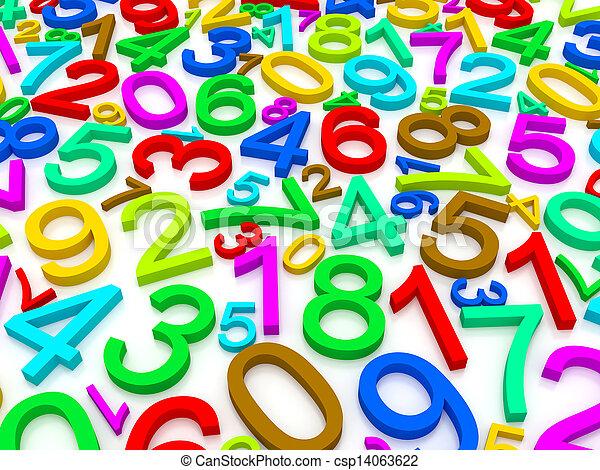 nombres, fond - csp14063622