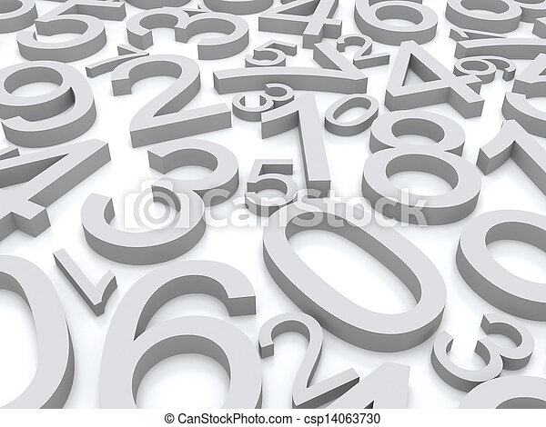 nombres, fond - csp14063730