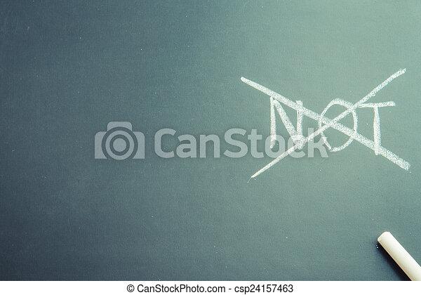 non, asse, nero, scrivere, parola - csp24157463