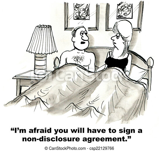 Non Disclosure Agreement Im Afraid You Will Have To Sign A Non